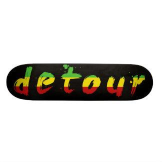 Le détour fait de la planche à roulettes logo de skateboard 21,6 cm