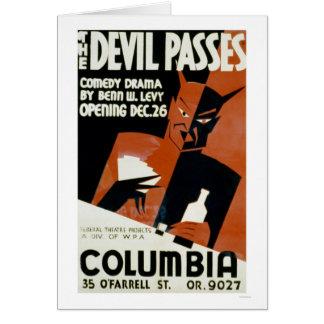 Le diable passe la comédie WPA 1940 Carte