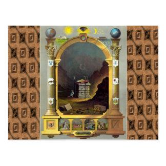 Le diagramme maçonnique carte postale