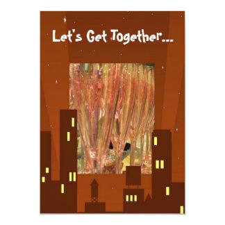 Le dîner de lumières de ville boit l'invitation carton d'invitation  12,7 cm x 17,78 cm