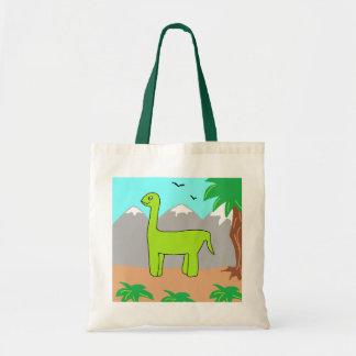 Le dinosaure heureux sac en toile budget