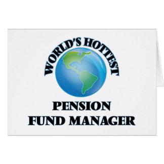 Le directeur le plus chaud de fonds de pension du carte de vœux