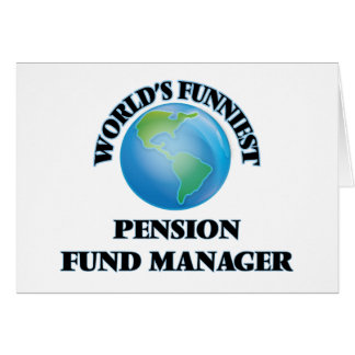 Le directeur le plus drôle de fonds de pension du cartes de vœux