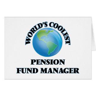 Le directeur le plus frais de fonds de pension du cartes de vœux