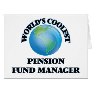 Le directeur le plus frais de fonds de pension du carte