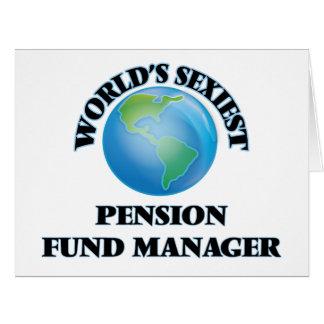 Le directeur le plus sexy de fonds de pension du carte de vœux