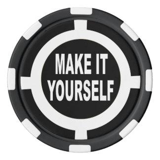 Le do-it-yourself le rendent vous-même noir et rouleau de jetons de poker