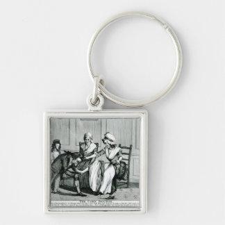 Le docteur de maïs, 1793 porte-clé carré argenté