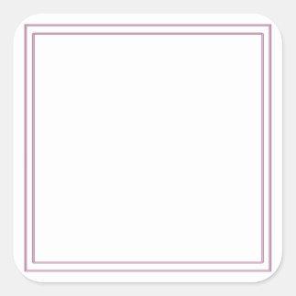 Le don vide de partie de modèle de do-it-yourself sticker carré