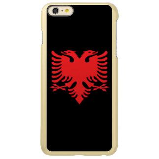 Le double albanais de drapeau a dirigé Eagle en