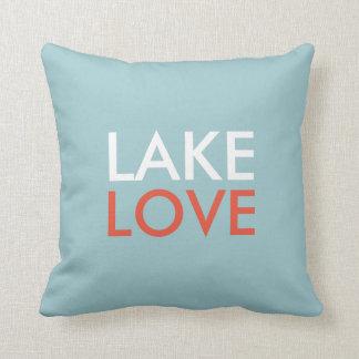 Le double d'oreiller d'amour de lac a dégrossi coussin