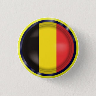 Le drapeau abstrait de la Belgique, Belge colore Badge Rond 2,50 Cm