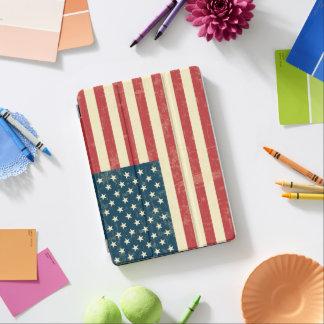 Le drapeau américain âgé s'est fané protection iPad air
