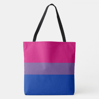 Le drapeau bisexuel de fierté colore la copie de tote bag