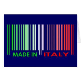 Le drapeau de code barres colore la conception carte