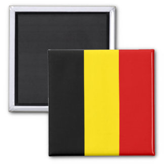 Le drapeau de la Belgique Magnet Carré