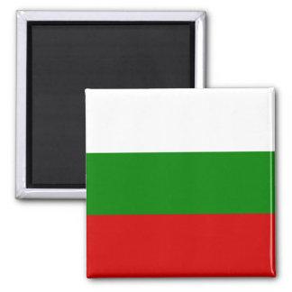 Le drapeau de la Bulgarie Magnet Carré