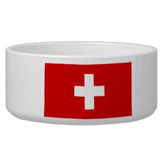 Le drapeau de la Suisse Bols Pour Chien