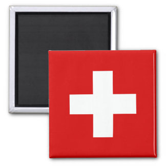 Le drapeau de la Suisse Magnet Carré