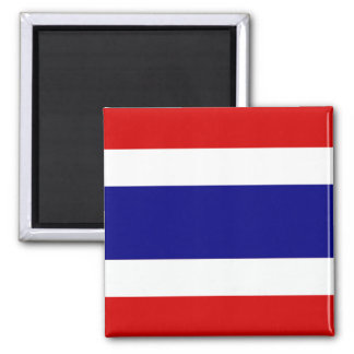 Le drapeau de la Thaïlande Magnet Carré