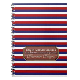 Le drapeau de l'Amérique Etats-Unis colore le Carnet À Spirale