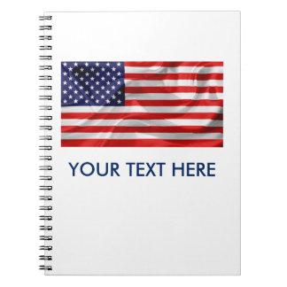 Le drapeau des Etats-Unis d'Amérique Carnet