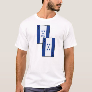 Le drapeau du Honduras carde des hommes et des T-shirt
