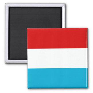 Le drapeau du Luxembourg Magnet Carré