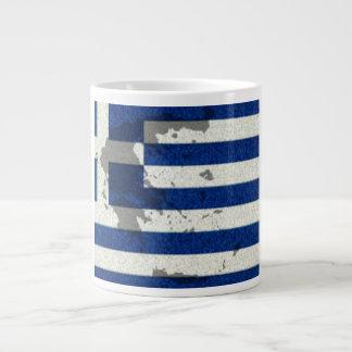 Le drapeau grec a inspiré la tasse de café enorme