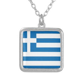 Le drapeau national de la Grèce Collier