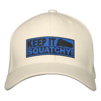 Le *EMBROIDERED* bleu le gardent Squatchy ! - Bobo Casquette De Baseball Brodée