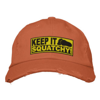 Le *EMBROIDERED* jaune le gardent Squatchy ! - Bob Casquette De Baseball