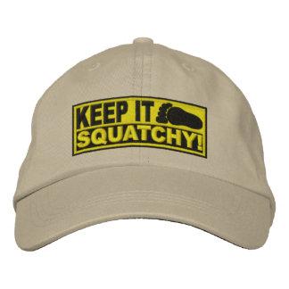 Le *EMBROIDERED* jaune le gardent Squatchy ! - Bob Casquettes De Baseball Brodées