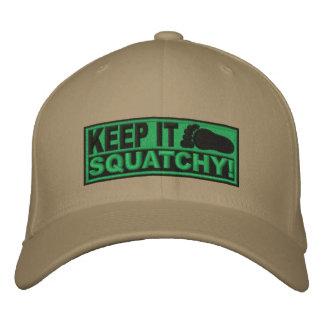 Le *EMBROIDERED* vert le gardent Squatchy ! - Bobo Casquettes De Baseball Brodées