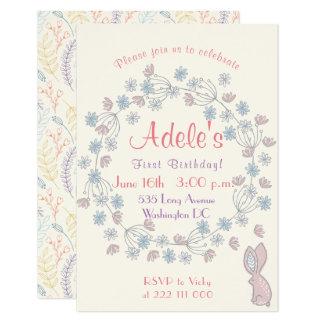 Le ęr anniversaire de la belle et simple fille carton d'invitation 8,89 cm x 12,70 cm