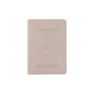 Le Faux nuptiale rougissent support simili cuir de Protège-passeport