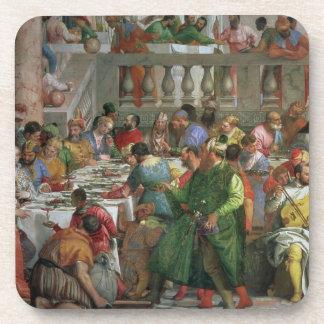 Le festin de mariage chez Cana, détail de régaler  Dessous-de-verre