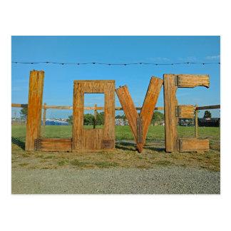 Le festival d'Arrington VA Lockn de signe d'amour Carte Postale
