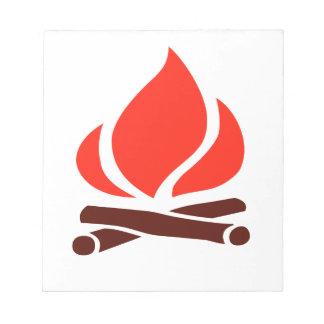 le feu chaud en cheminée blocs notes