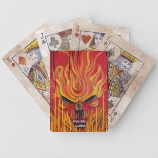 Le feu de crâne jeux de cartes