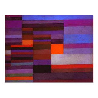 Le feu de Paul Klee dans la carte postale de
