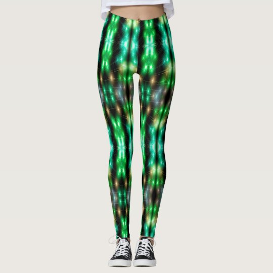 Le Fiber Optic (green) Leggings