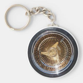 Le fil d'or de Lowrider roule le porte - clé Porte-clé Rond