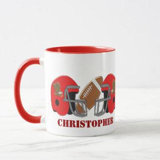 Le football américain ajoutent juste le nom mug
