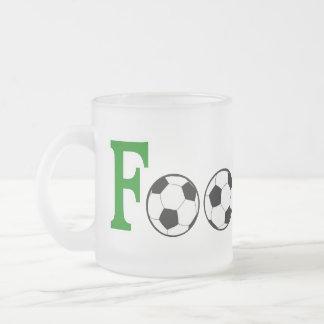 Le football avec des boules tasse givré