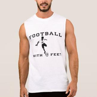 Le football avec le T-shirt sans manche des hommes
