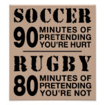 Le football contre le rugby