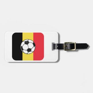 Le football de la Belgique Étiquette Pour Bagages