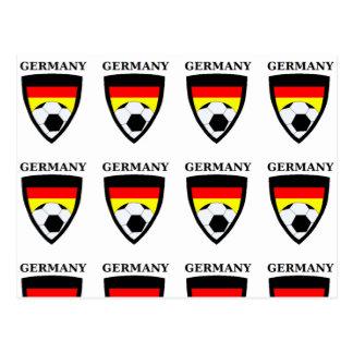 Le football de l'Allemagne Carte Postale