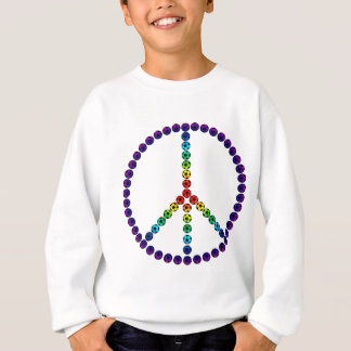 Le football de paix sweatshirt